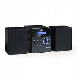 Auna MC-20 DAB micro stereo zariadenie, DAB+, bluetooth, diaľkové ovládanie, čierna farba