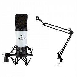 Auna MIC-920, USB, mikrofónový set, V3, kondenzátorový mikrofón, otočné rameno, ochranná taška