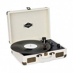 Auna Nostalgy by Peggy Sue retro gramofón platne USB AUX krémová/vzhľad mosadze
