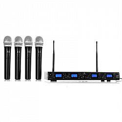 Auna Pro UHF-550 Quartett1, bezdrôtový mikrofónový set, 4-kanálový