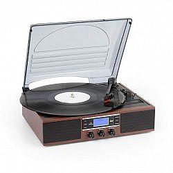 Auna TT-138 DAB, gramofón, DAB+/FM, remeňový pohon, 33/45 ot./min., linkový výstup