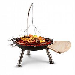 Blumfeldt Turion, šibenicový otočný gril, ohnisko, Ø 80 cm, BBQ, lanový pohon, nerezová oceľ