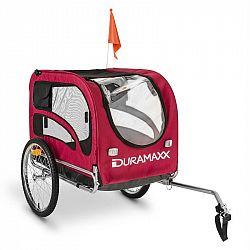 DURAMAXX King Rex, príves na bicykel pre psov, 250 l, 40 kg, oceľové rúry, červený