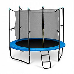 KLARFIT Rocketboy 250, 250 cm trampolína, vnútorná bezpečnostná sieť, široký rebrík, modrá