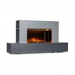 Klarstein Heat 'n Beat, elektrický krb, 900/1800 W, LED, bluetooth reproduktor, sivý