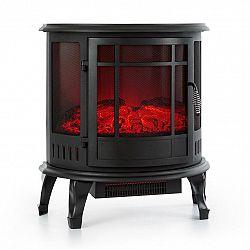 Klarstein Megéve, elektrický krb, 1850W, LED-plameň, termostat, stmievateľný, čierny